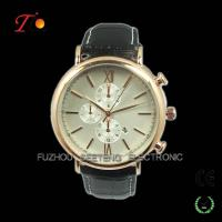 Buy cheap Hot sell luxury men watches for men with leather band and three bars from wholesalers