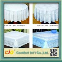 Buy cheap Elegant Patterned Lace Round PVC Table Cloths  For Home , Hotel , Picnic or Restaurant product