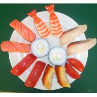 China Artificial crafts artificial food plastic fake sushi model for promotional gift and decoration on sale