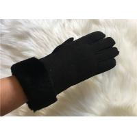 Buy cheap Handsewn Sheepskin Double Face Hand-stitched Glove Black Shearling Leahter gloves product