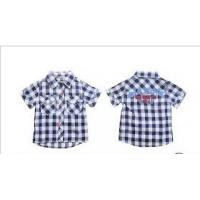 Buy cheap PH code 7.3 Short Sleeve Lapel 100% Cotton Kids Plaid Shirts, Casual shirts For from wholesalers