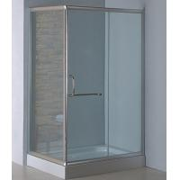 Buy cheap Rectangle complete shower enclosures with tray satin silver aluminum alloy #6463 frame product