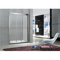 China 8MM / 10MM Stainless Steel Frameless Sliding Shower Doors With Artificial Stone Tray on sale