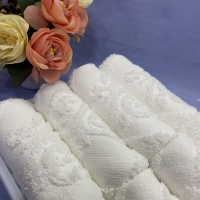 Buy cheap Hemmed 30x30cm Airline Jacquard Towel product