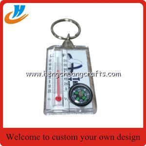 China Wholesale Plastic keychain/compass keychain/new design key chain cheap price custom no mold fee key rings on sale