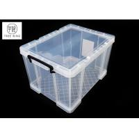 Buy cheap 70L Office Media Clear & Transparent Plastic Lightweight Robust Stackable Storage Box With Lids and Handle from wholesalers