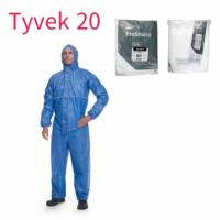 Buy cheap Disposable Coverall with Hood Protective Suit Factory Hospital Safety Clothing (White, 175/XL) product