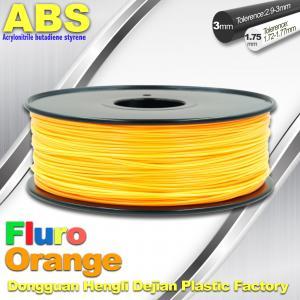 Buy cheap Eco Friendly ABS 3D Printer Filament 1.75mm Fluro Orange 3D Printing Filament product