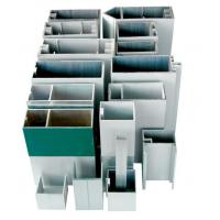 Buy cheap Hidden Frame Aluminium Curtain Walling Systems Extruded For Villas product