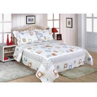 Buy cheap Cotton Frame Quilt Bedding Sets , Geometric Pattern Bedspreads And Comforters product