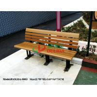 Buy cheap Wood Plastic Composite Outdoor Park Benches , Composite Wood Bench With Back product