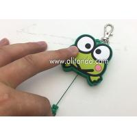 Buy cheap Cartoon frog animal shape retractable pvc wrap badge reels custom with key chains product