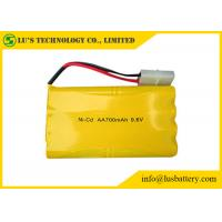Buy cheap Nickel Cadmium 9.6 Nicd Battery Pack / AA 700mah Rechargeable Batteries product