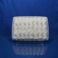 Buy cheap bright white rolled  scented Disposable cotton airline towel in tray product