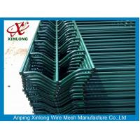 Buy cheap Welded Wire Mesh Fence Dark Green Powders Sprayed Coating 3D Curved Wire Mesh from wholesalers