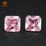 Buy cheap 3A square shape princess European machine cut cubic zirconia with pink diamond color product