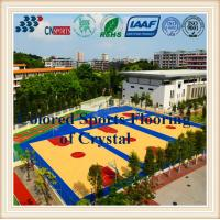 Buy cheap Beautiful Decoration Wood Grain Basketball Court SPU Sports Flooring for Indoor from wholesalers
