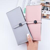 Buy cheap Female Foldable Leather Clutch Wallet Large Capacity For Money Coin Card Holders from wholesalers