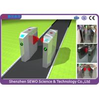 Buy cheap Retractable flap barrier entrance turnstiles exit control management system product
