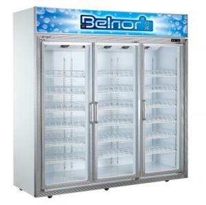 Buy cheap Vertical Supermarket Display Refrigerator , Three Glass Door Commercial Fridge Freezer from wholesalers