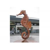 Buy cheap Large Decorative Corten Steel Sculpture Metal Animal Seahorse Sculpture product