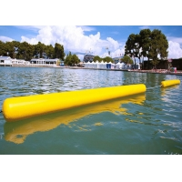 Buy cheap Customize Floating 0.9mm PVC Yellow Inflatable Long Cylinder Buoy Tube For Water Park product