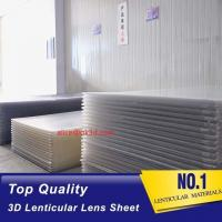 Buy cheap 3D Lenticular Sheet materials 70LPI PET 0.9MM 60X80CM for 3d lenticular printing by injekt print and UV offset print product