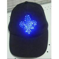 Buy cheap Adult Summer Gift Black Cotton Cap With Shining Led Cap light product