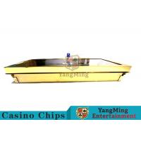 Buy cheap Bright Golden Texture Metal Casino Chip Tray , Poker Table Chip Tray Inserts  from wholesalers