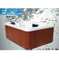 Square acrylic whirlpool massage outdoor hydro hot tub for 3 - 4 adults, OEM / ODM offer