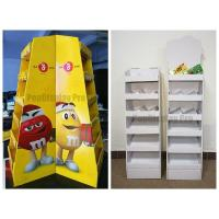 Buy cheap Floor Display Shelf  POS for MM's Chocolate Cardboard Made with Client's Logo product