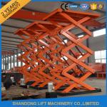 Buy cheap Adjustable Hydraulic Stationary Warehouse Mechanical Scissor Lift , Hydraulic Scissor Lift product