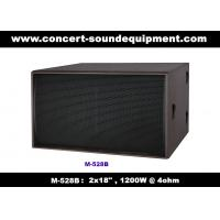 """Buy cheap Nightclub Sound Equipment / 2x18"""" Direct Reflex 4ohm 1200W Subwoofer For Concert , Disco Living Event  And Show product"""