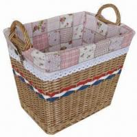Buy cheap Large Storage Basket with Lining and Two Ears, Ideal for Household Usage product