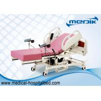 Buy cheap Remote Controller Medical Maternity Bed With Telescopic Working Table product