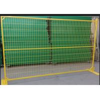 Buy cheap Professional Freestanding Chain Link Fence Panels , Portable Construction Fence product