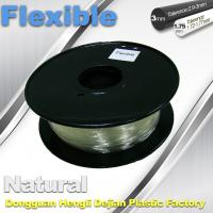 Buy cheap Transparent Rubber Flexible 3D Printer Filament Consumables 1.75mm  / 3.0 mm product