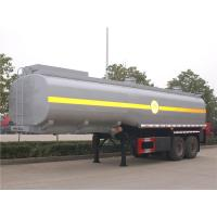 China 30M3 30 CBM Oil Tank Semi Trailer , Carbon Steel Fuel Tanker Semi Trailer 2 Axle 30000L on sale