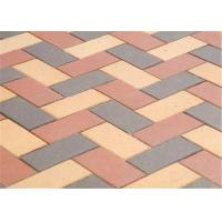 Buy cheap Customized Red Clay Brick Pavers , Concrete Driveway Pavers Sintered / Extrusion product