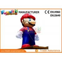 Buy cheap PVC Coated Nylon 3 - 8m Advertising Inflatables Mario Model / Inflatable Cartoon Characters from wholesalers