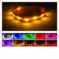 Buy cheap Reflective LED Dog Collar USB Rechargeable Water Resistant Running Over 8 Hours product