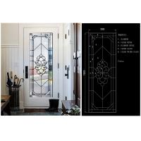 Buy cheap Clear / Bronze Exquisitely Custom Beveled Glass Panels Stunningly Flat Round product