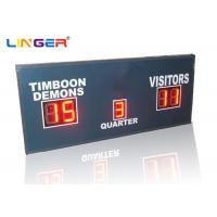 Buy cheap Small Red Simple Function Electronic LED Football Scoreboard only with Scores and Period product