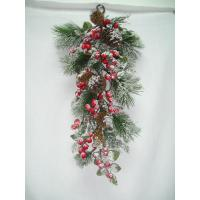 Buy cheap Wall  festival hanging Artificial Decorative Flowers Mistletoe with Pinecones   product