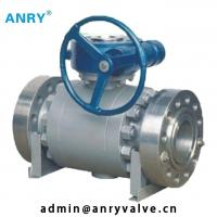 China A105+ENP Trunnion Mounted Ball Valve Forged Steel A105 Body  High Pressure Ball Valve on sale