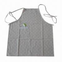 Buy cheap Kitchen Cooking Apron, Made of Cotton, Belts and Pockets, Various Sizes/Patterns are Available product