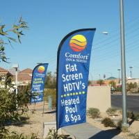 Buy cheap Feather Flag Banners , feather flag , teardrop wind flag 1.2m - 5.6m product