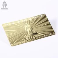Buy cheap Innovative Brass Personal Metallic Gold Business Cards Different Pattern Option product