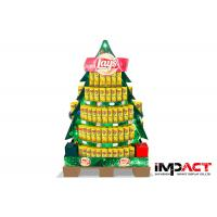 China Point Of Sale Cardboard Display Stand For Chips / Snacks , Christmas Tree Shaped on sale