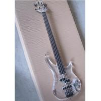 Buy cheap Top Quality Factory Custom 4 string crystal electric bass transparent acrylic Body product
